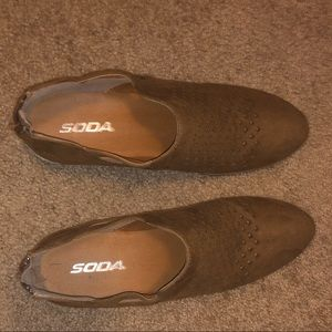 Brown booties from Soda!